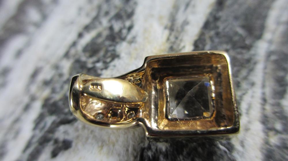 Anhnger Blautopas Diamanten Gold 333 Schmuck Service